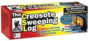 Fireplace cleaning logs