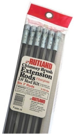 Rutland KRK-18 Fiberglass Chimney Brush Rod Kit by Rutland